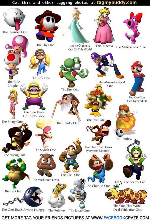 Tag My Buddy Super Mario Bros Character Traits Tag Image 10178