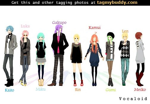 My Friends As V... Vocaloid Names List