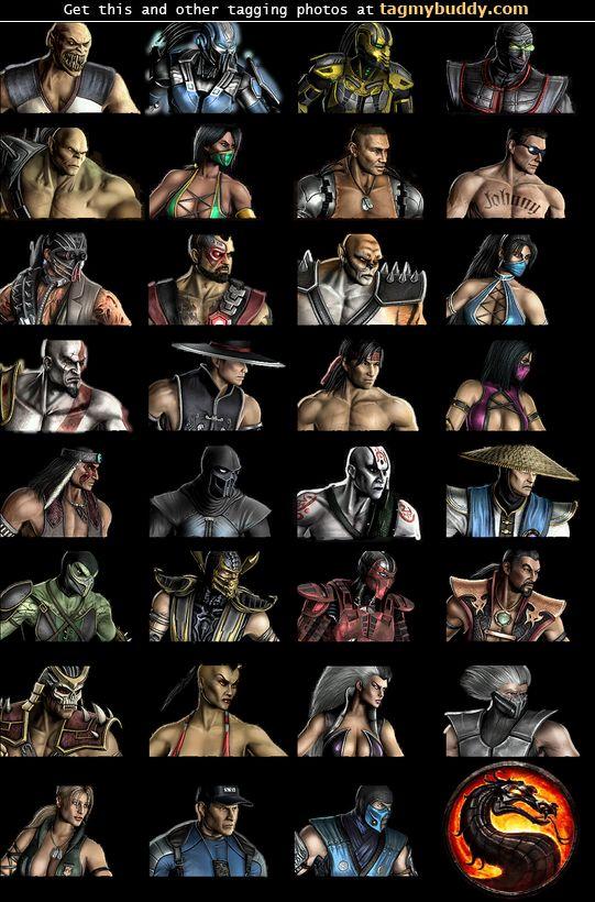 all mortal kombat characters names