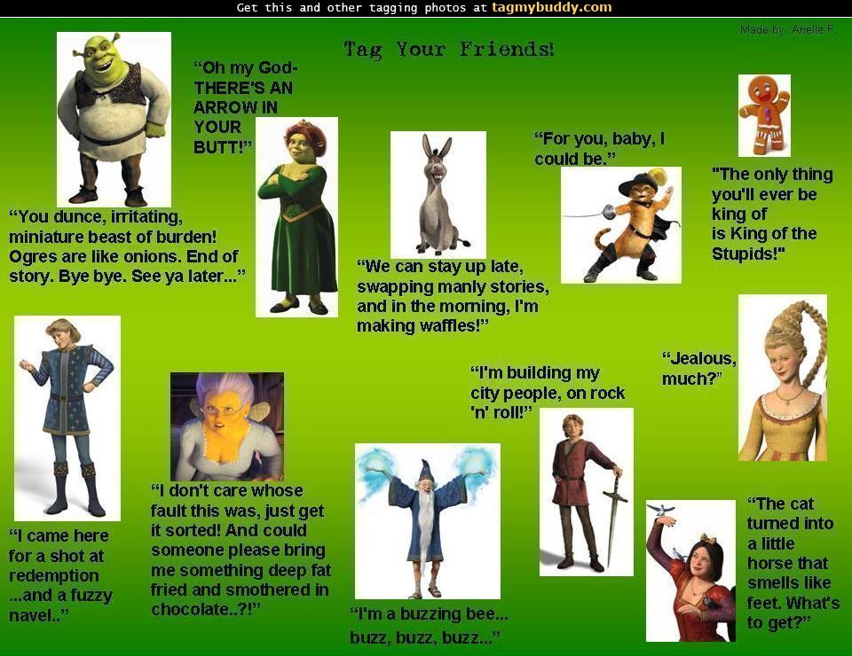 Shrek Characters Pictures and Names