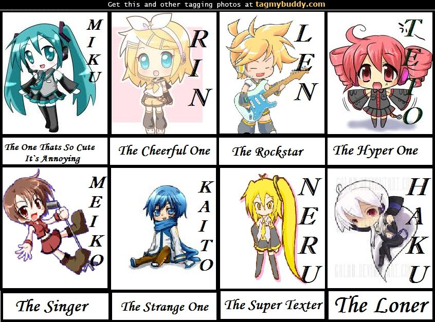 all vocaloid ch... Vocaloid Names List